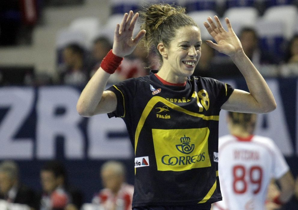 Foto: Begoña Fernández, en el partido ante Polonia (Efe).