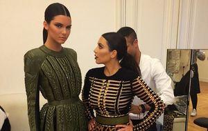 Una de las Kardashian, a punto de desfilar para Victoria's Secret