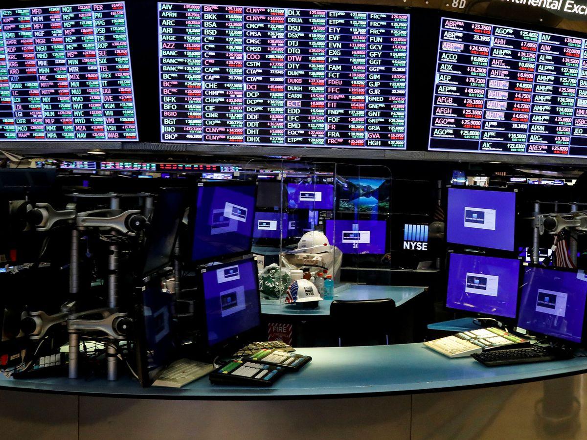 Foto: La Bolsa de Nueva York, vacía por el coronavirus. (Reuters)