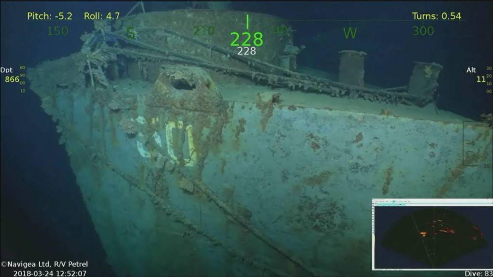 Foto: El USS Helena, encontrado en las Islas Salomón (Foto: YouTube)