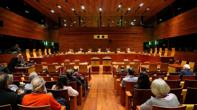 Lectura de la sentencia del Tribunal de Justicia de la Unión Europea (TJUE). (EFE)