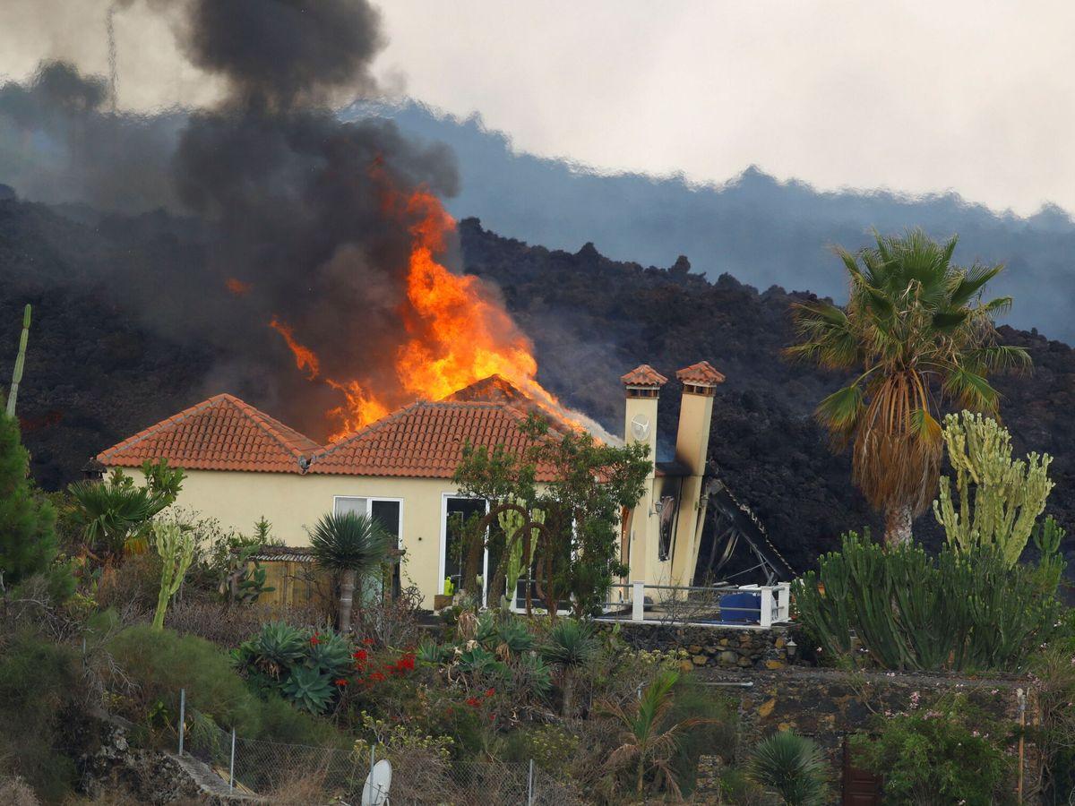 Foto: Una casa es arrasada en el municipio de Los Campitos. (Reuters)