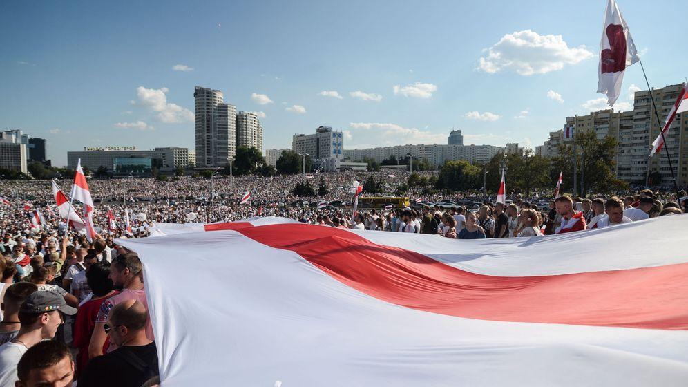 Foto: Manifestantes en Bielorrusia. (EFE)