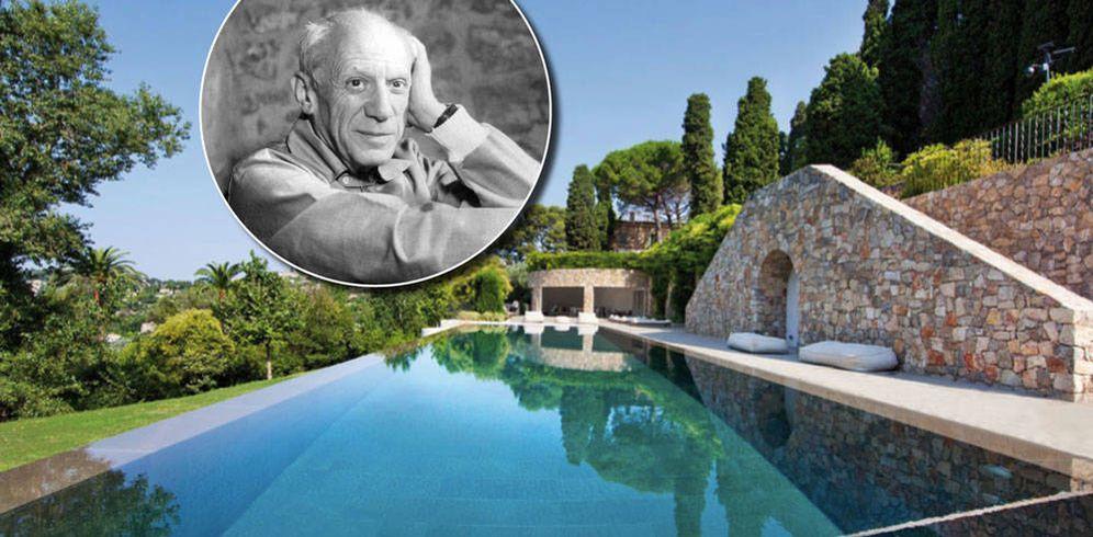 Foto: Picasso en su mansión a subasta.