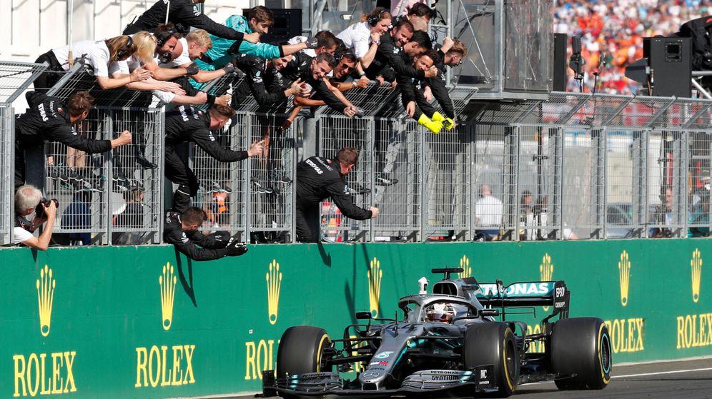 Foto: Hamilton se llevó el triunfo en Hungría. (Reuters)