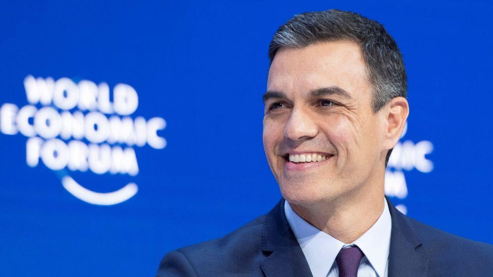 Foto: Pedro Sánchez, en el Foro Económico Mundial de Davos. (EFE)