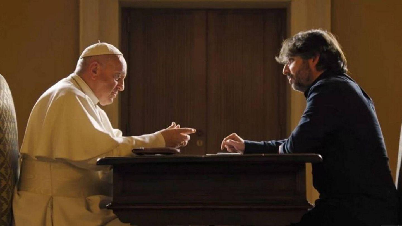 El papa Francisco y Jordi Évole. (Atresmedia)