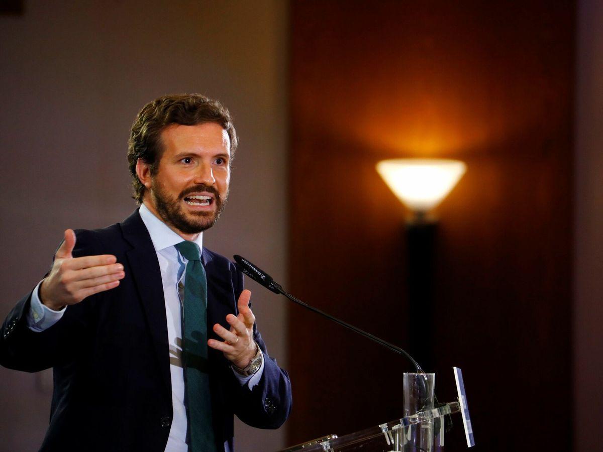 Foto: El presidente nacional del PP, Pablo Casado. (EFE)