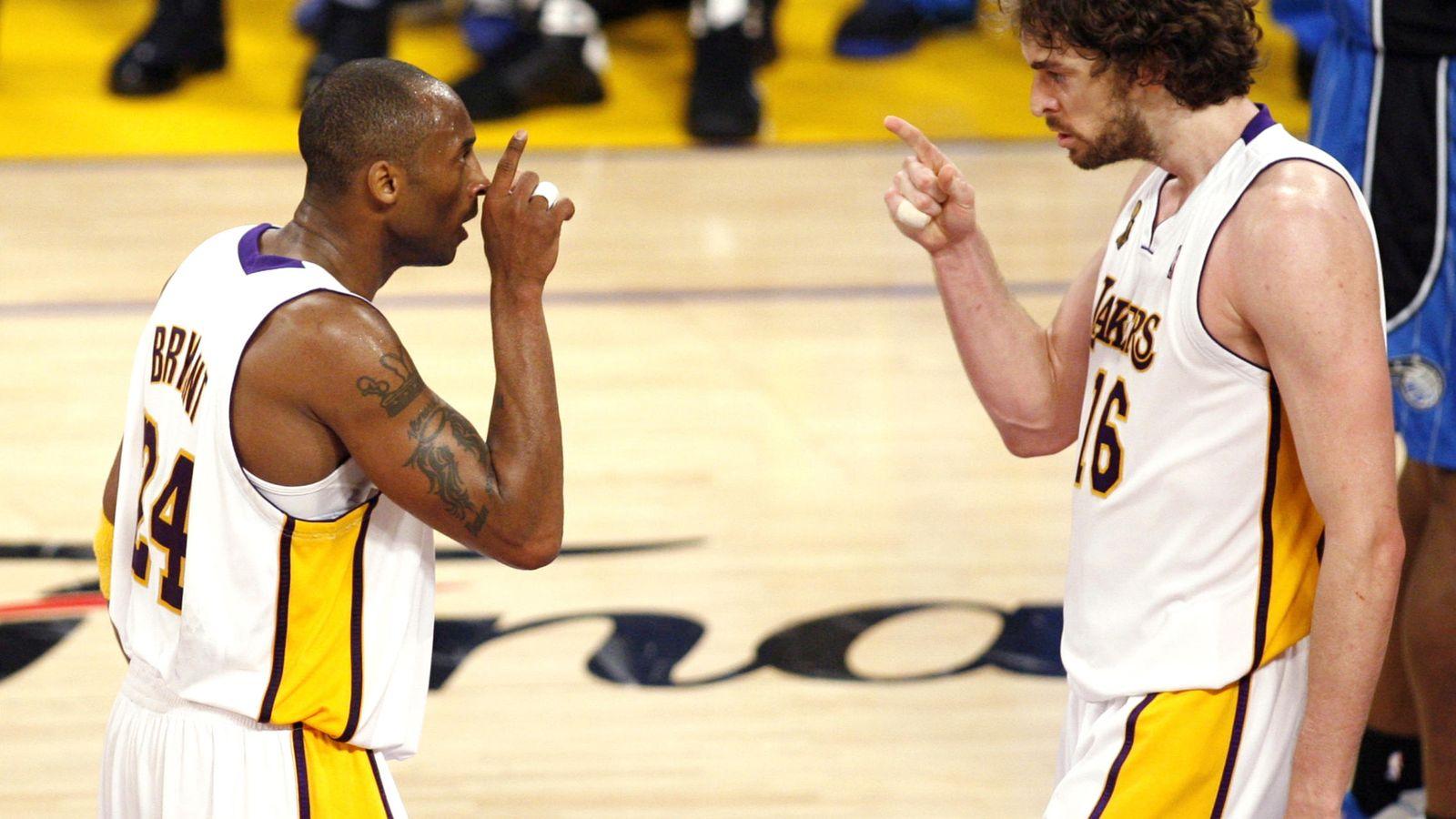 Foto: Juntos, Bryant y Gasol ganaron dos anillos (Danny Moloshok/Reuters)