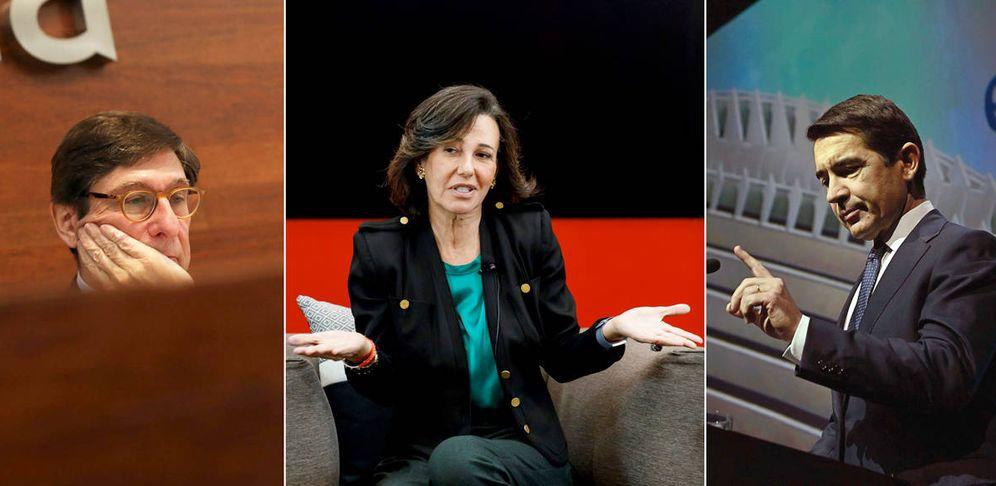 Foto: José Ignacio Goirigolzarri, Ana Botín y Carlos Torres. (EFE/EC)