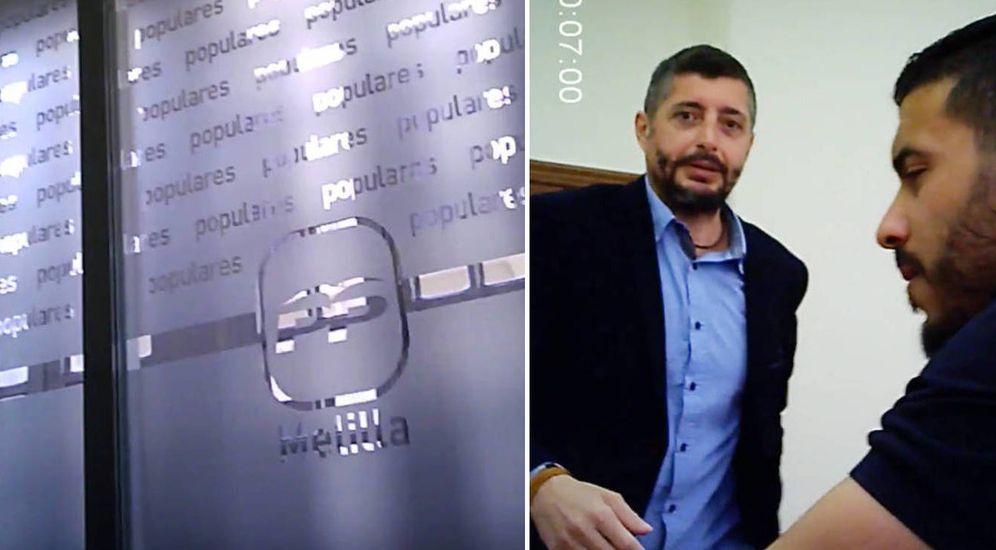 Foto: El hijo de Juan José Imbroda, presidente de Melilla, al fondo en un fragmento de los vídeos filtrados.