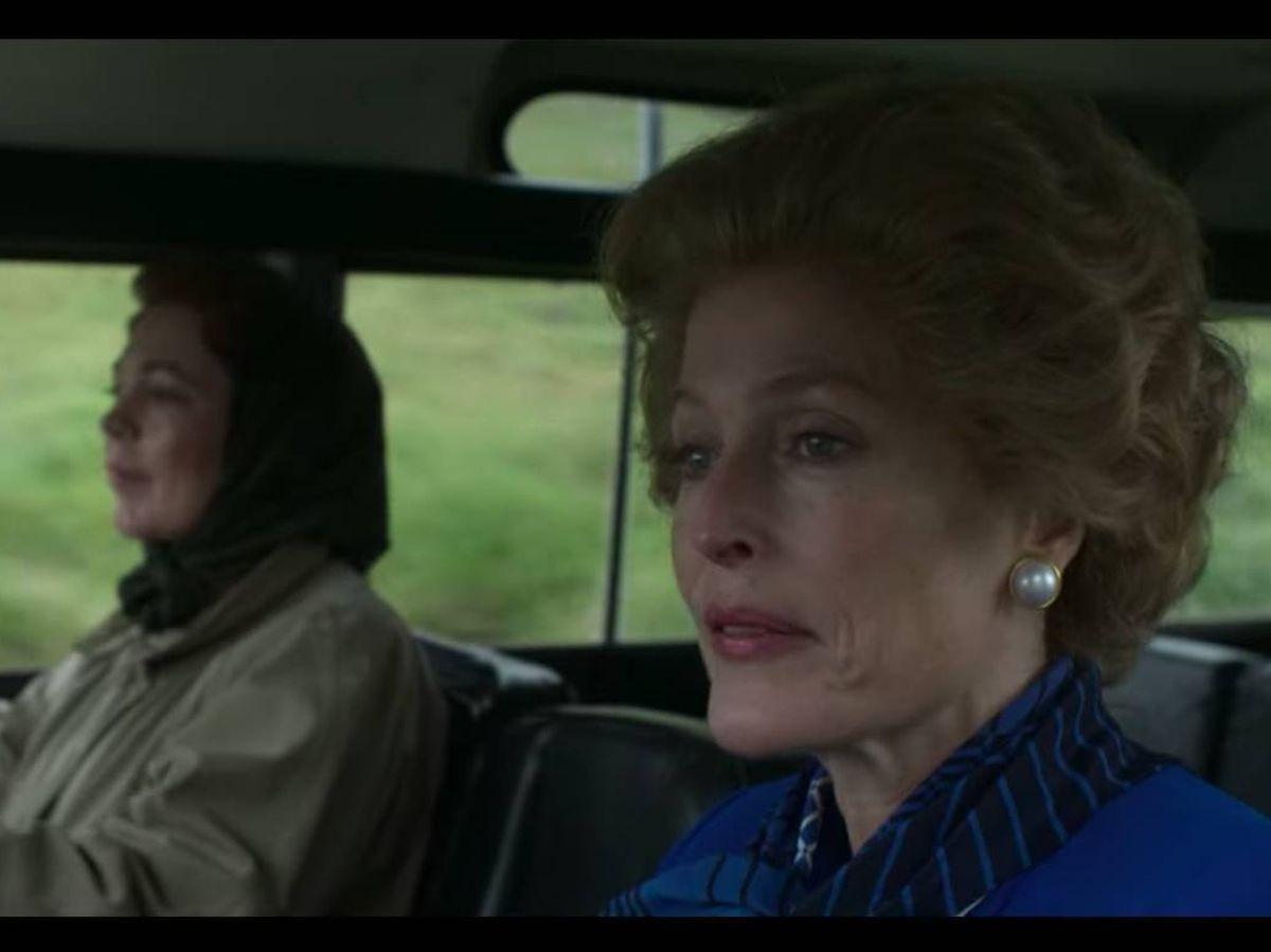 Foto: Isabel II y Margaret Thatcher en 'The Crown'. (Netflix)