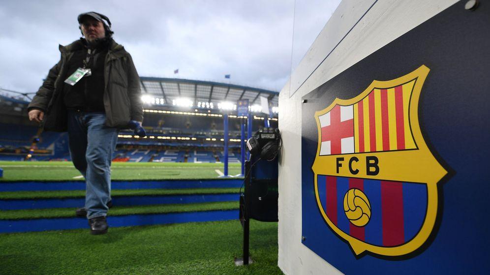 Foto: El escudo actual del FC Barcelona. (EFE)