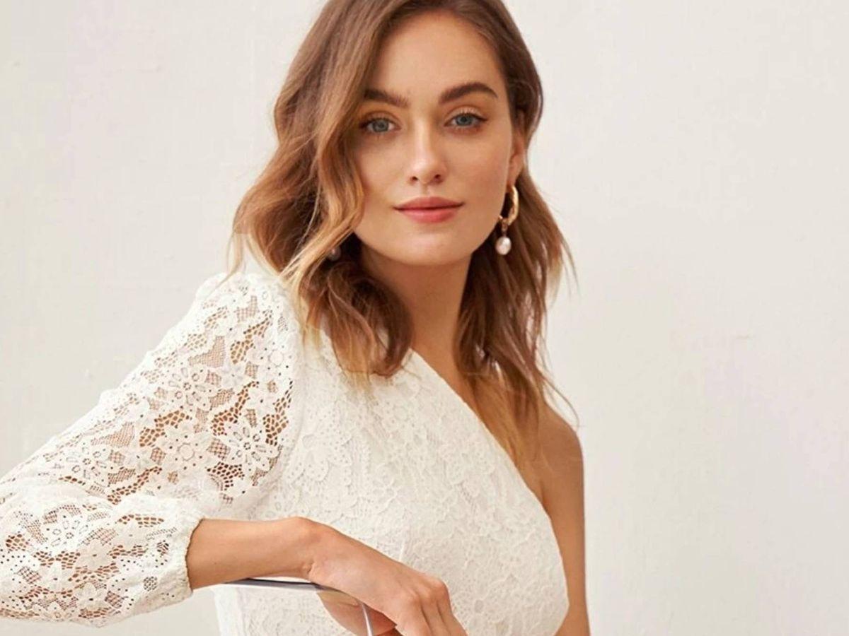 Foto: Vestido de novia barato de Shein. (Cortesía)