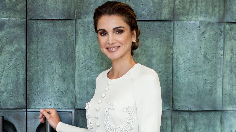Rania de Jordania, en las fotos por su 50º cumpleaños. (Cordon Press)