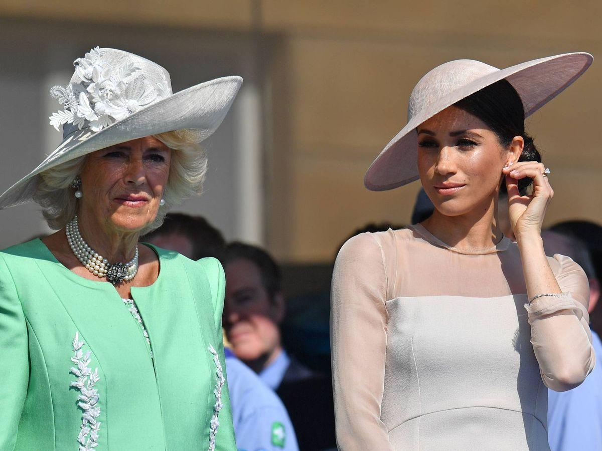 Foto: Camilla y Meghan, en una imagen de archivo. (Getty)