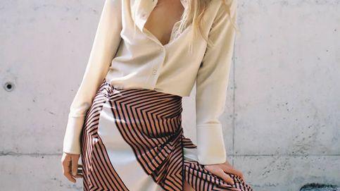 ¿Falda pareo en otoño? Es posible, si es como esta de Zara