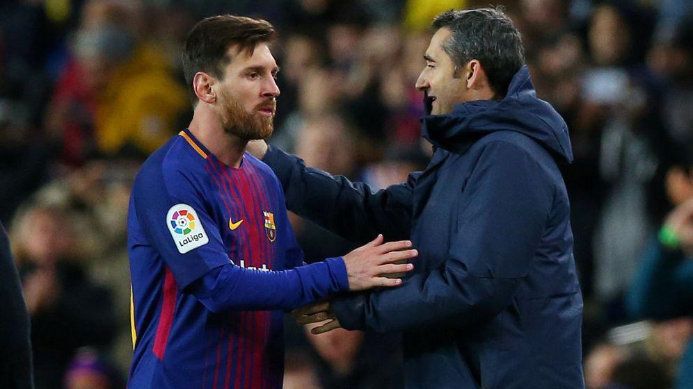 Foto: Valverde y Messi, en un partido reciente. (Reuters)