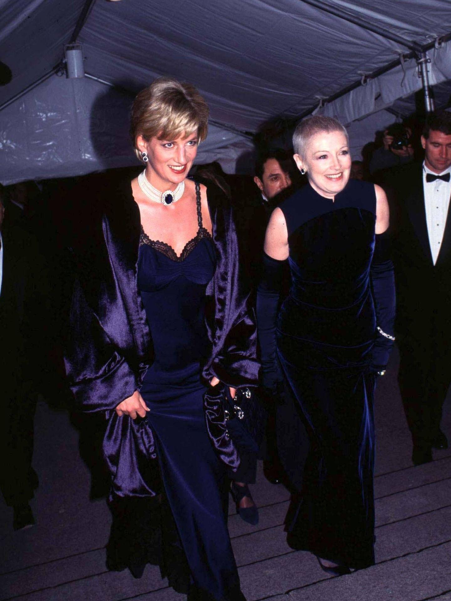 Diana, en la gala del MET de Nueva York de 1996. (Cordon Press)