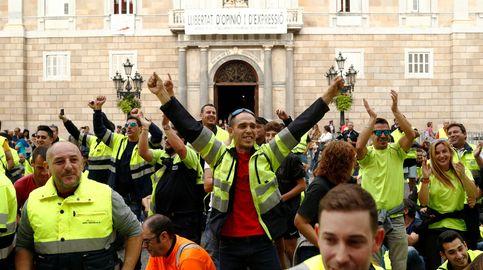 Las marchas salvan la cara de una huelga que no consigue paralizar Cataluña