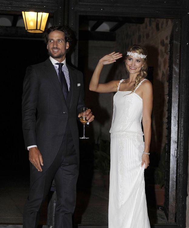 Foto: Feliciano y Alba el día de la boda. (Gtres)