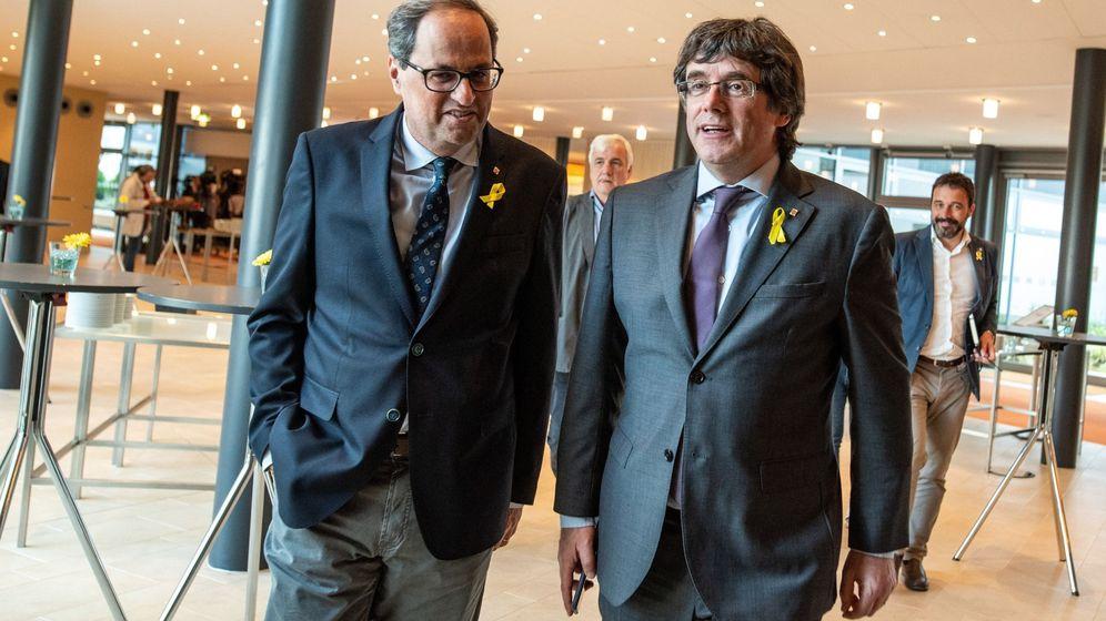 Foto: Carles Puigdemont y Quim Torra en Berlín. (EFE)