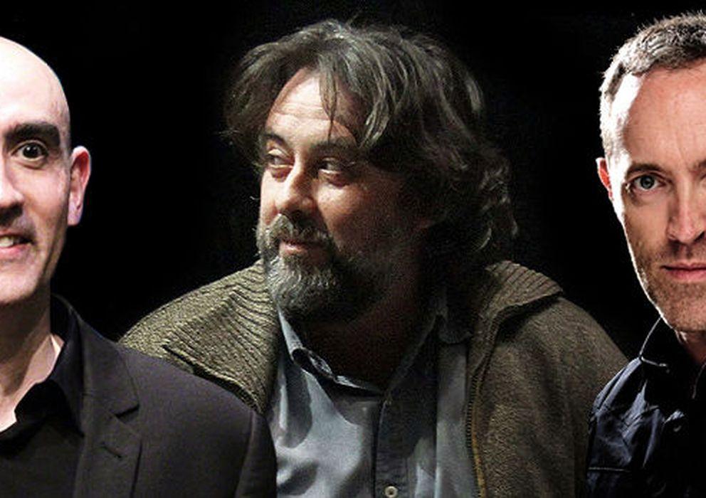 Foto: Los directores de escena Alfredo Sanzol, Andrés Lima y Miguel del Arco.