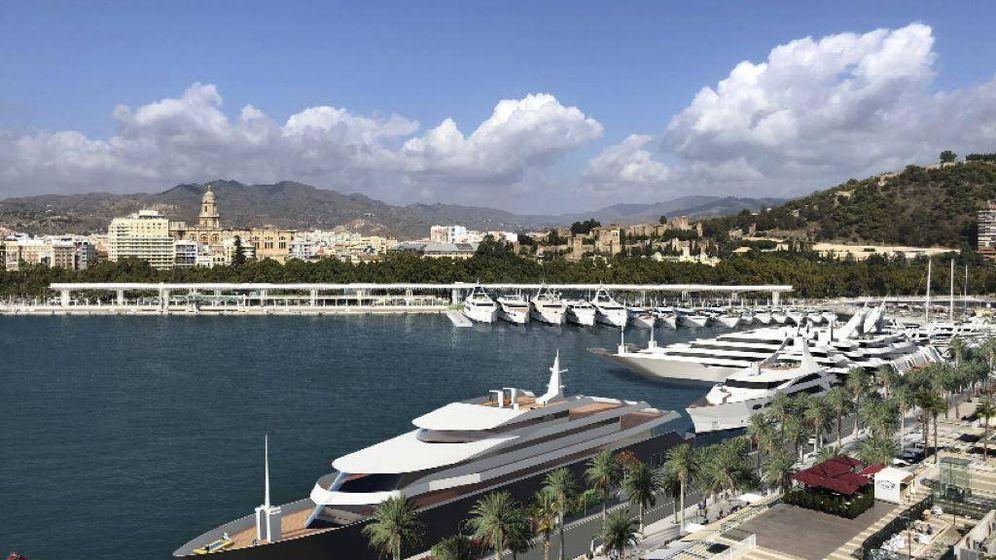 Foto: Yates en el puerto de Málaga