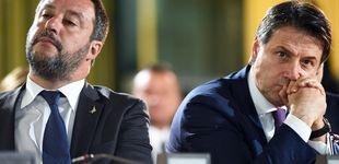 Post de Conte dimite y carga contra Salvini: