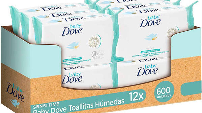 Toallitas húmedas para bebés de piel sensible Dove