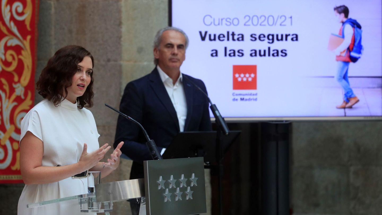 Isabel Díaz Ayuso y Enrique Ossorio. (EFE)