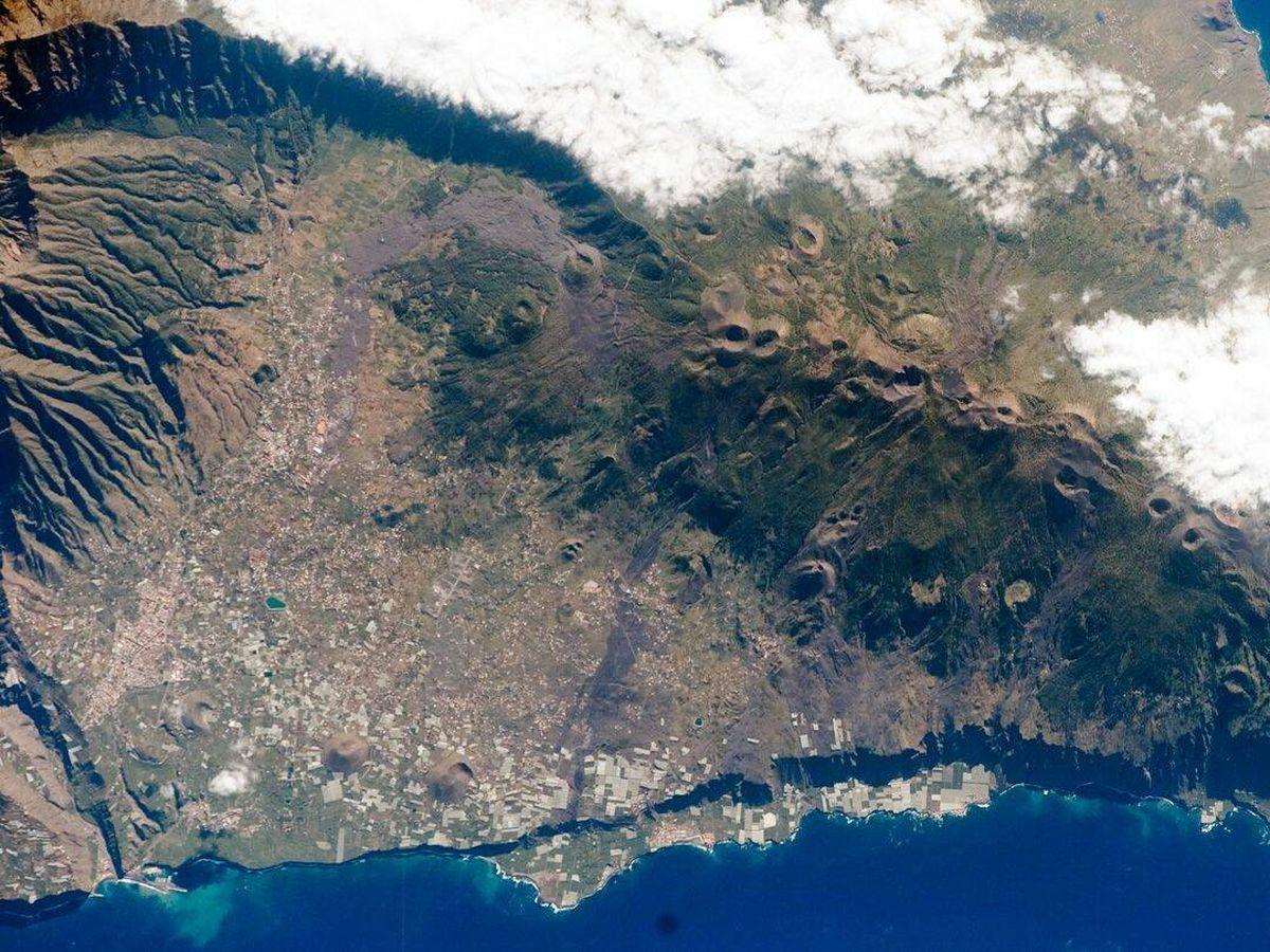 Foto: Imagen de La Palma desde la Estación Espacial Internacional. (NASA)