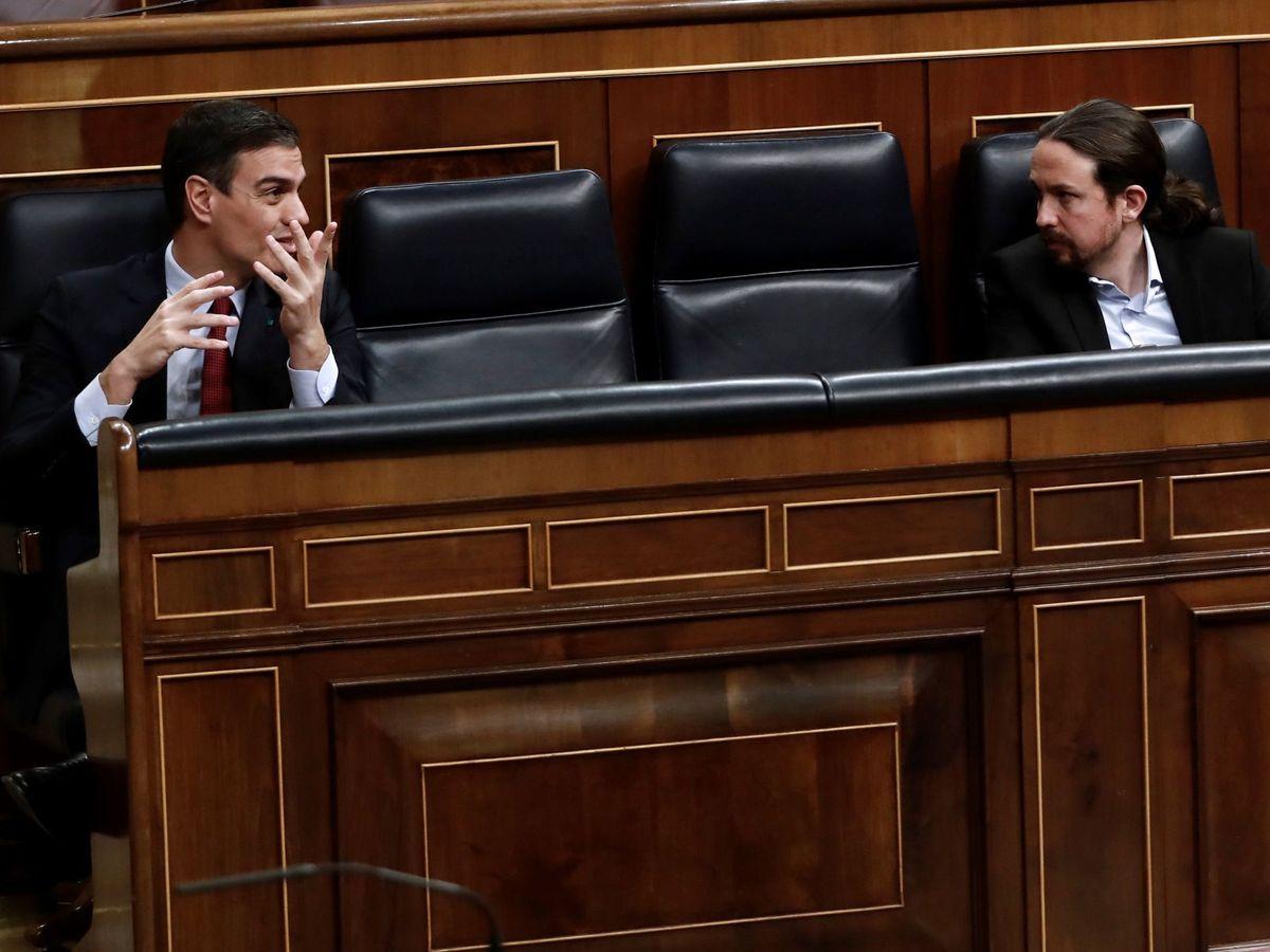 Foto: Pedro Sánchez y Pablo Iglesias. (Mariscal/Efe)