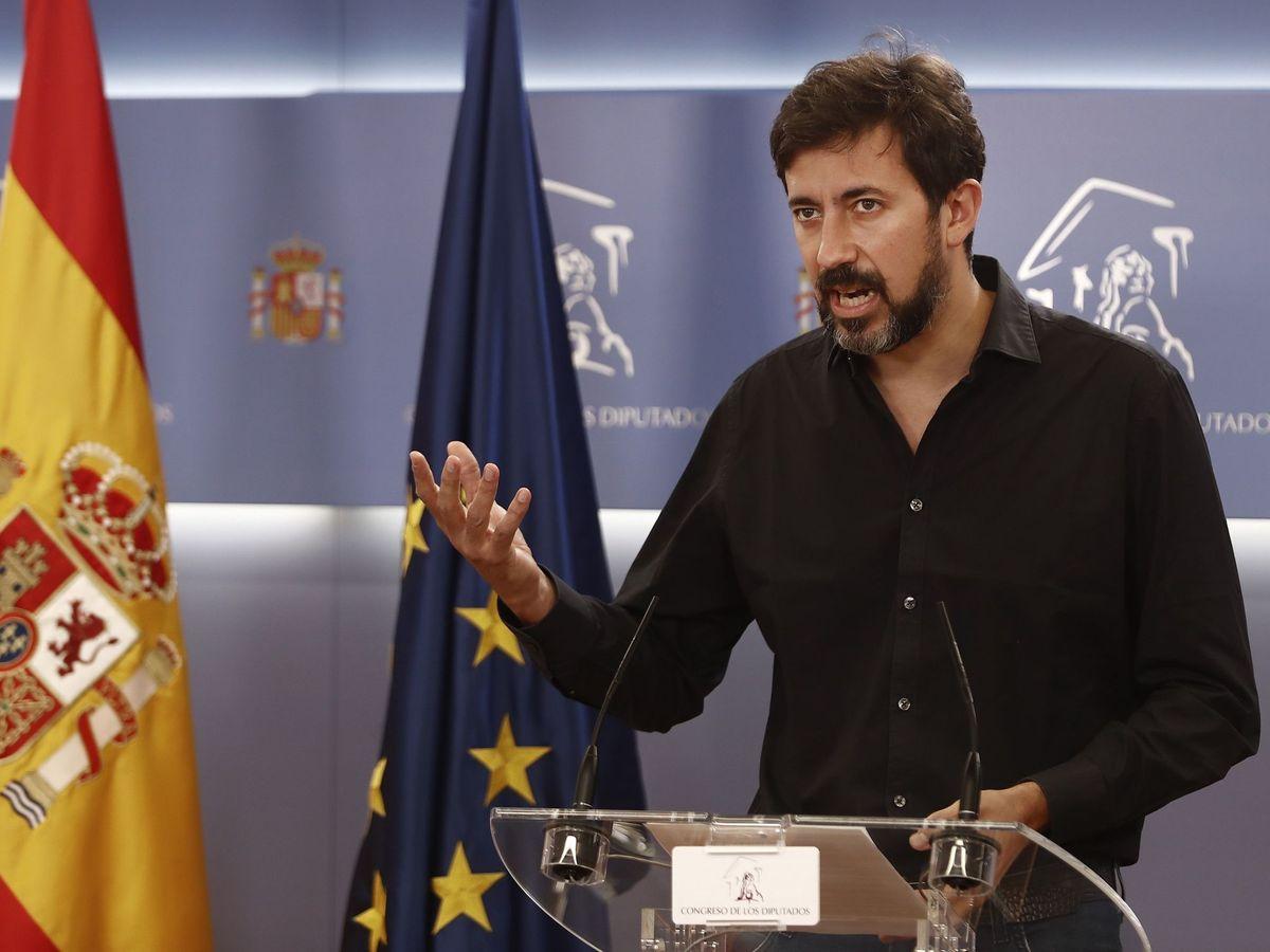 Foto: El diputado de Unidas Podemos y portavoz de Galicia en Común, Antón Gómez-Reino. (EFE)