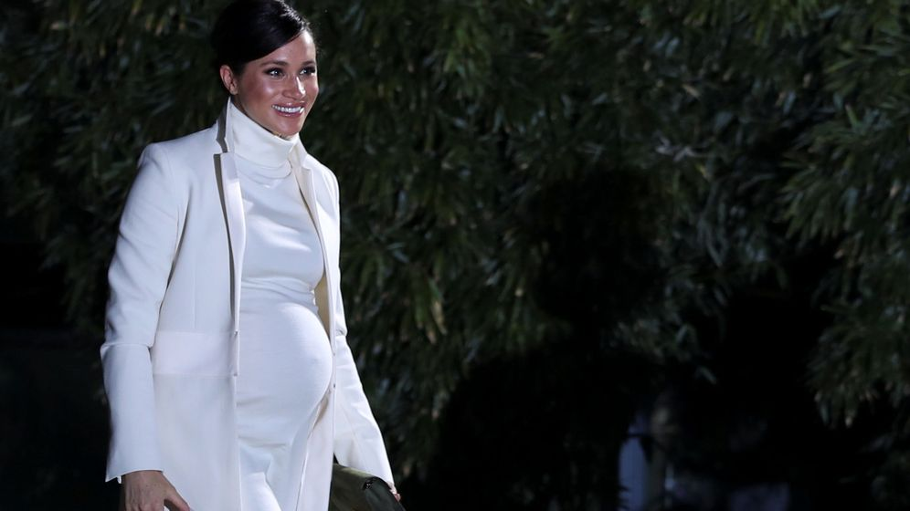 Foto: La duquesa de Sussex a su llegada al acto. (Reuters)