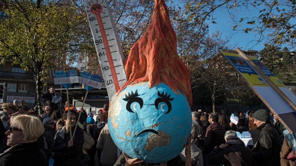 Foto: Protestas contra el cambio climático en Suiza. (EFE)