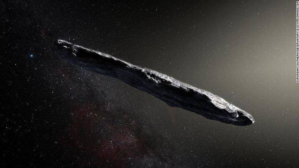 Foto: El objeto interestelar 'Oumuamua'.