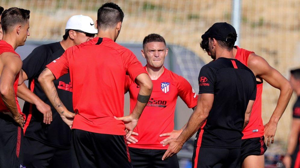 Foto: Kieran Trippier entrenó este miércoles por primera vez con el Atlético de Madrid. (EFE)