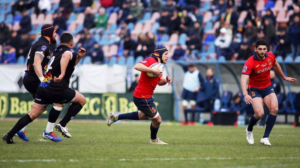 Foto: Imagen del Rumanía-España jugado este sábado. (Foto: MB Media/Ferugby)