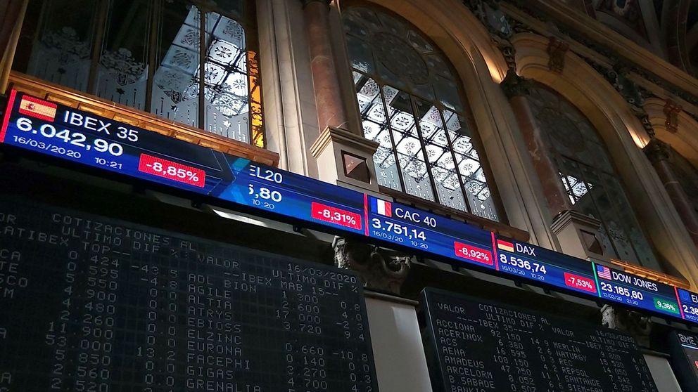 El Ibex rebota el 6% al cierre tras conocer la batería de medidas del Gobierno