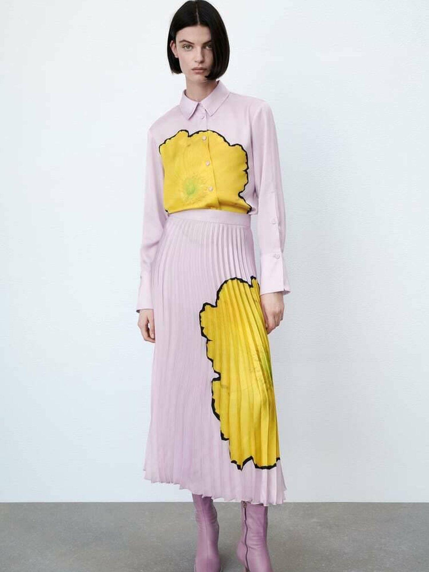 La nueva falda de Zara. (Cortesía)