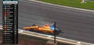 Post de Accidente de Fernando Alonso en los entrenamientos de Indianápolis