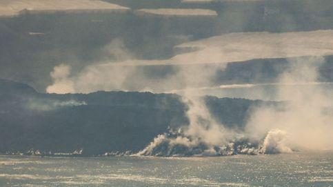Directo   La lava que mana del volcán crea un delta que gana poco a poco terreno al mar