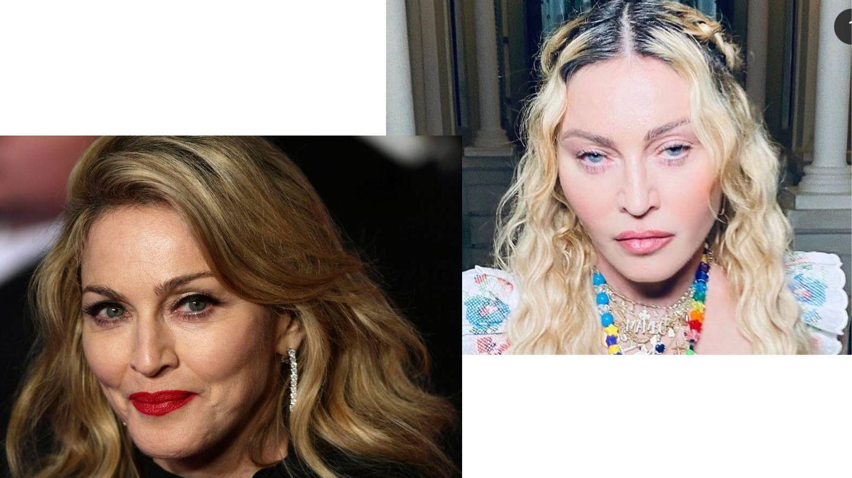 Madonna en 2012 vs. Madonna ahora mismo. (Cordon Press / Instagram @madonna)