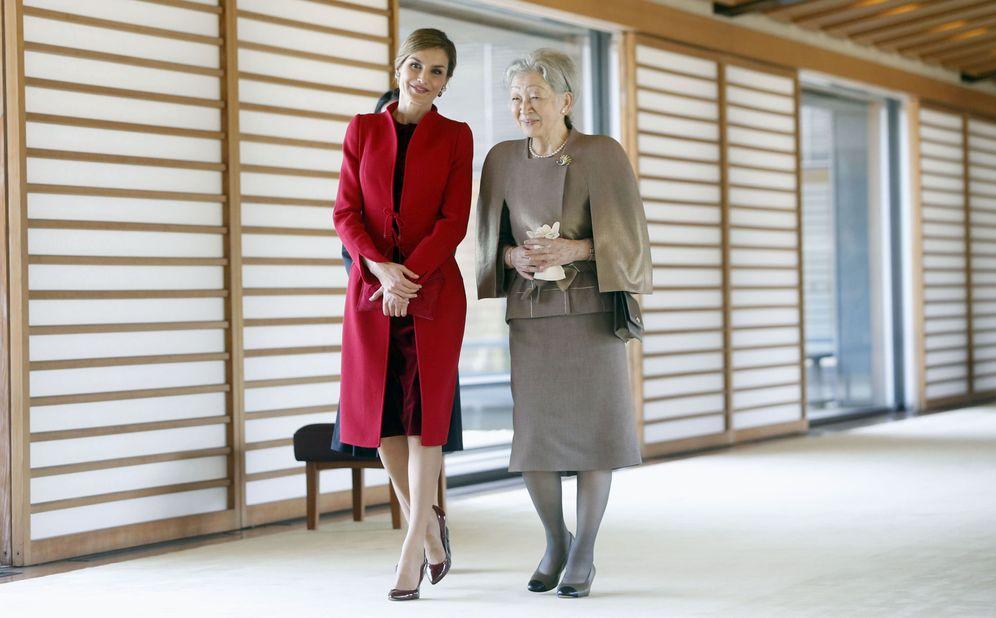 Foto: Doña Letizia con la emperatriz de Japón. (EFE)