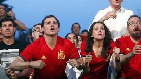 Albert Rivera y los dirigentes de Ciudadanos vieron juntos el partido en Barcelona