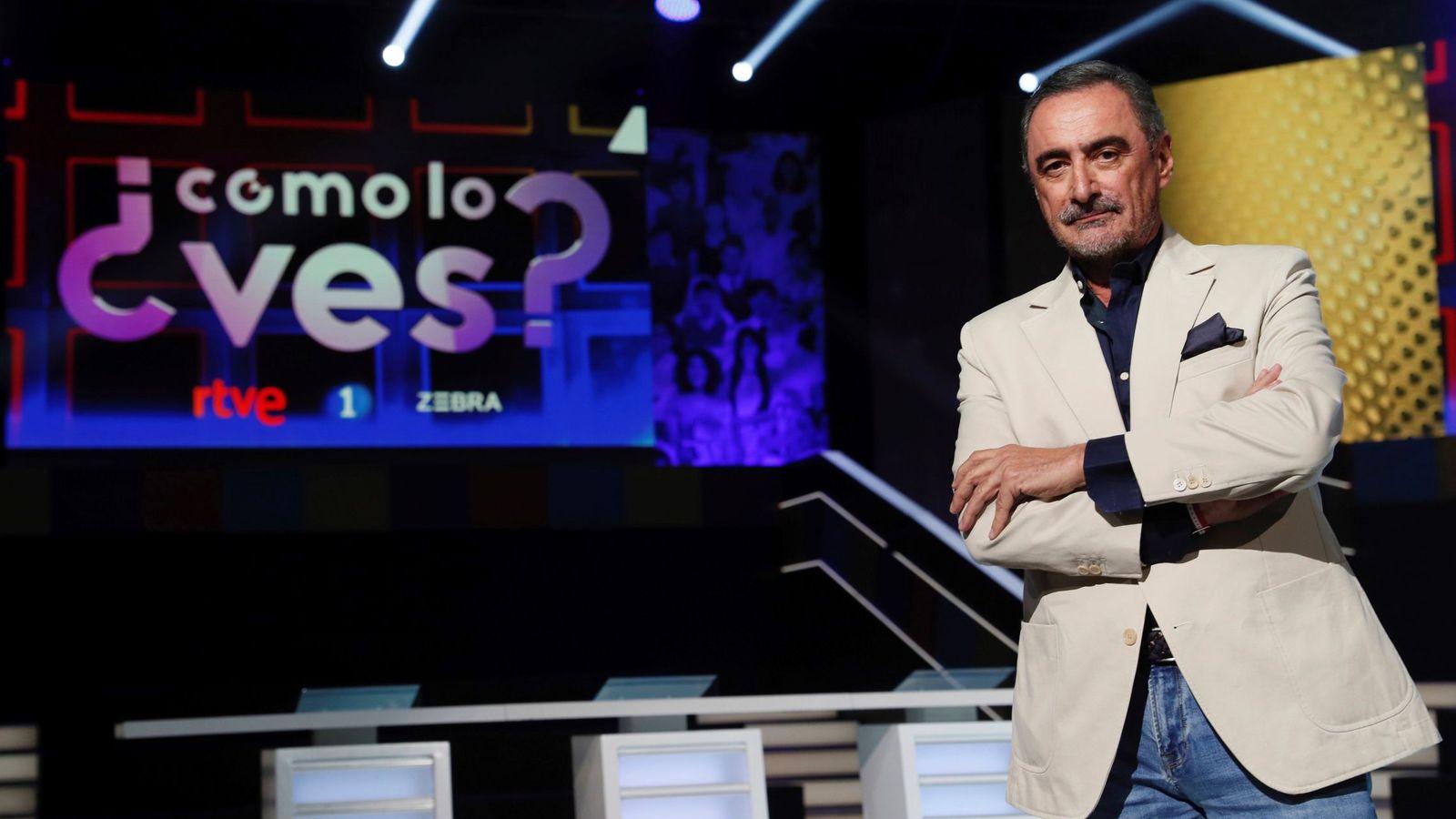 Foto: Carlos Herrera, en la presentación de su programa en TVE. (EFE)
