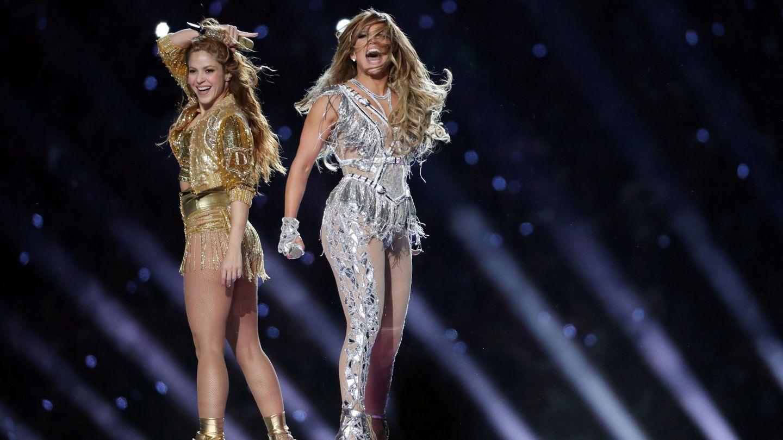 Shakira y Jennifer Lopez en la Super Bowl. (Reuters)