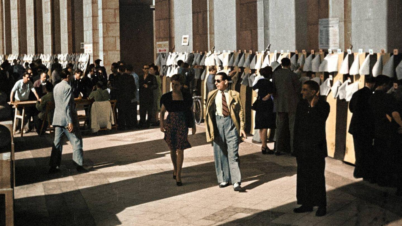 Imagen de la serie ''España después de la guerra: el franquismo en color'. (Cedida por DMAX)