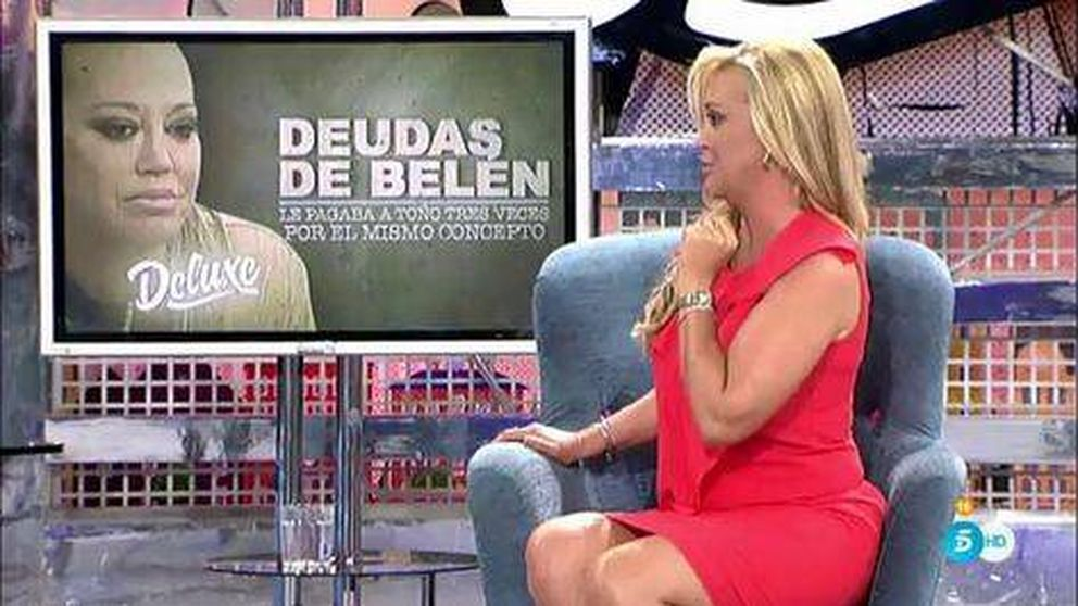 Belén Esteban hace números y destapa todos los 'trapos sucios' de Toño Sanchís